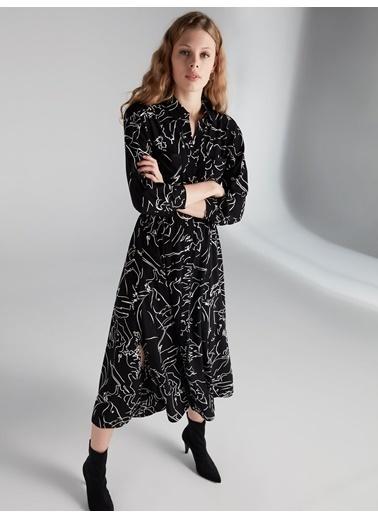 Kemerli Uzun Gömlek Elbise-Ipekyol